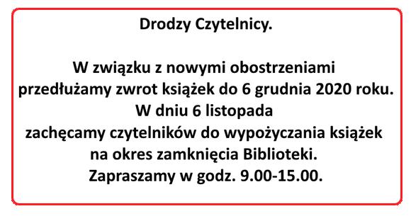 Zamkniecie biblioteki - covid